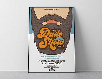 The Dude Show Poster Illustration