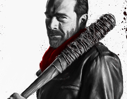 Jeffrey Dean Morgan AKA Negan Digital painting