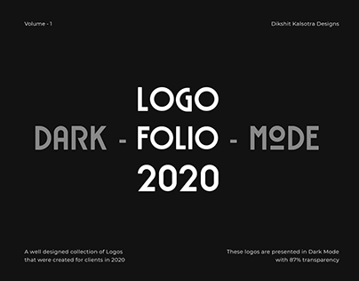 LOGOFOLIO - DARK MODE