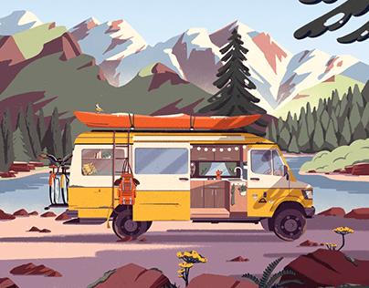 Climbing Van | Book cover