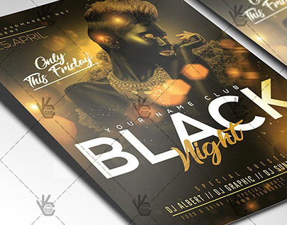 Black Night Flyer - PSD Template