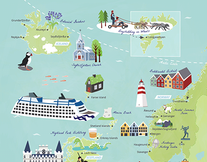 Princess Cruises Itinerary Map