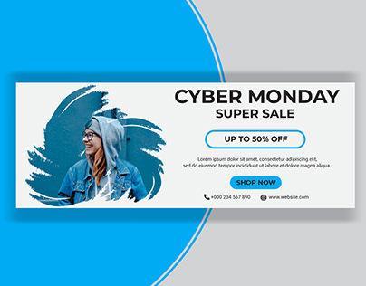 Cyber Monday Sale Facebook Cover Template-2