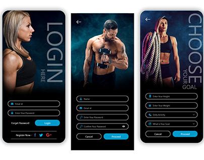 Fitness Login App Screen