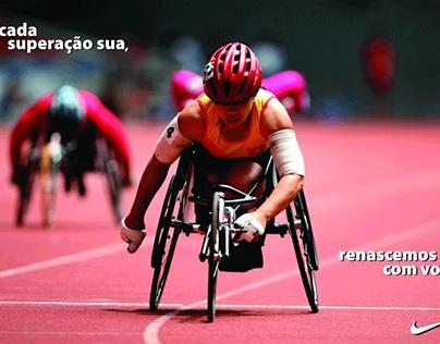 Redação de campanha da Nike para paralimpíadas