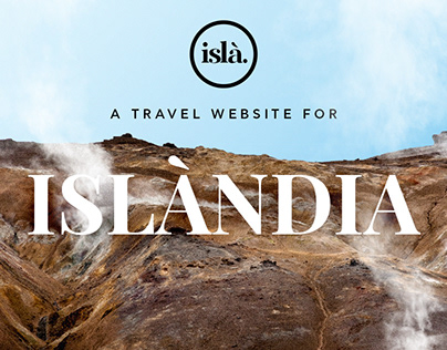Isla. A Travel website for Iceland