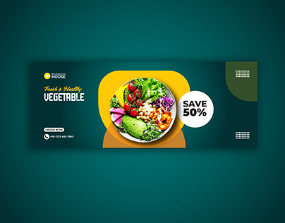 Vegetable Facebook cover and social media post banner