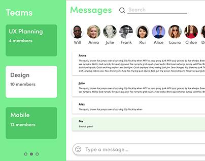 Adobe XD Creative Challenge 22/07/2020 - Messaging App