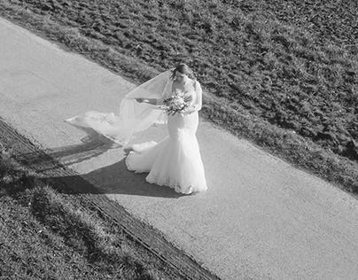 Bridal Drone Wedding Photography