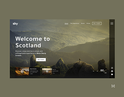Travel Website #_thedesignproject Day 12 / 30