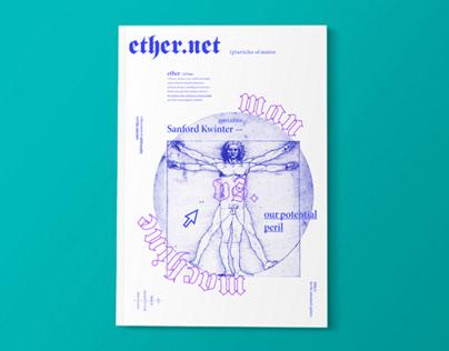 Ether.net Magazine - Editorial Design