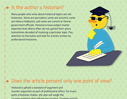 Infographics – 6 Steps to Historical Literacy