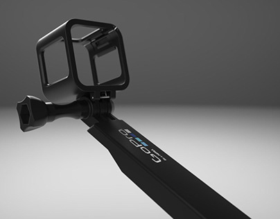 GoPro 3-Way   3D Modeling and Rendering