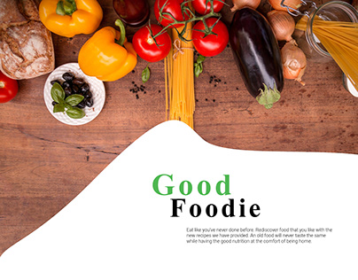 Good Foodie Mobile App Concept