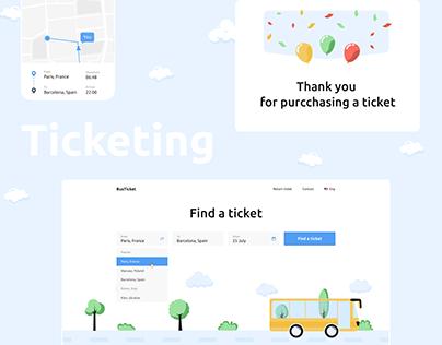 BusTrip - platform for ticketing UX/UI WebSite