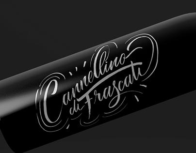 Calligraphy wine bottles