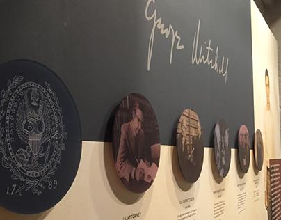 Senator George Mitchell Retrospective Wall