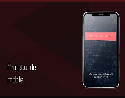 "Projeto de aplicativo mobile - ""Como se calcula"""