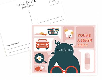 Mac & Mia Mothers Day Postcards