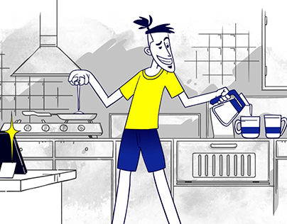 Going The Distance. 2D animation For Channel V