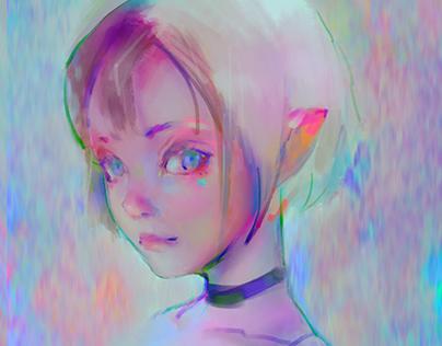 girl color sketch