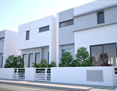 MODERN HOUSES IN ARADIPPOU LARNACA