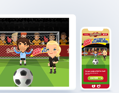 Butterkist - HTML5 Soccer Game Animations (UEFA)