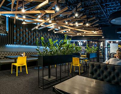 Дизайн кофейни - кальянной Coffeetoria Lounge г. Киев
