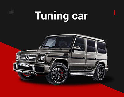 Landing page for tuning cars