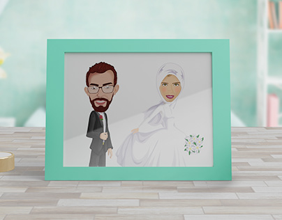 digital painting for bride