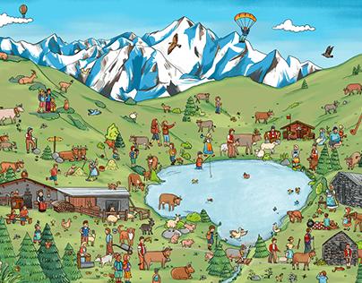 Wimmelbuch z`Alp