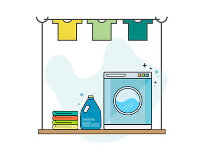 lustrator Tutorial Laundry Vector Icon Design