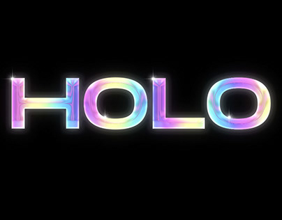 Holographic Chrome Text Effect Tutorial