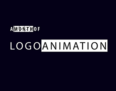 A Month of Logo Animations