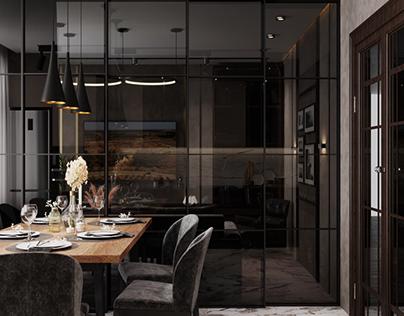Проект кухни-гостиной , Санкт-Петербург