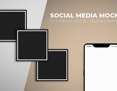 Free Social Media Mockup PSD