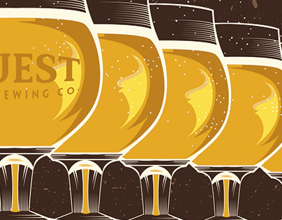 Quest Brewing Company Beer Event and Concert Posters