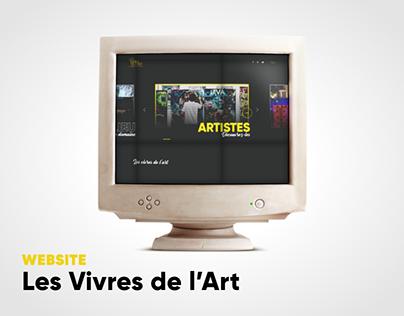 UI/UX Redesign - Les Vivres de l'Art
