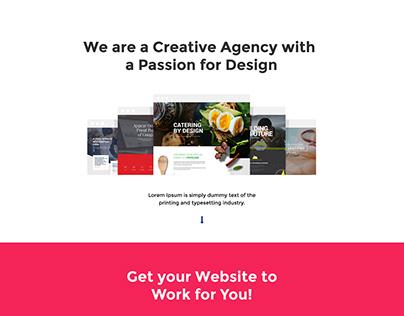 Divi Layout PSD For A Web Design Studio