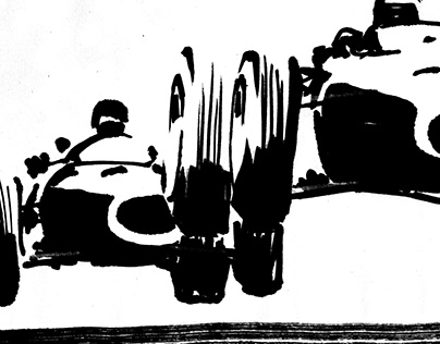 Jumping Vintage Car sketches (COPY)