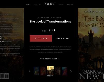 Book Landing Page (above the fold) #DailyUI #DailyUI003