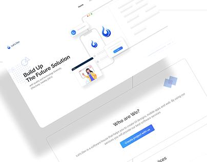 Let's Dev Landing Page Design