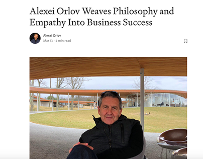 Alexei Orlov Weavers Philosophy Into Business Success