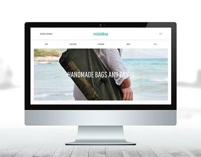 UX/UI Design - Misirlou Handmade Bags and Pants
