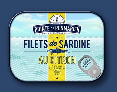 Packaging boîte de sardines