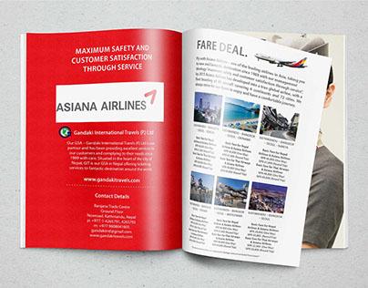 Asiana Airlines - Graphic Design