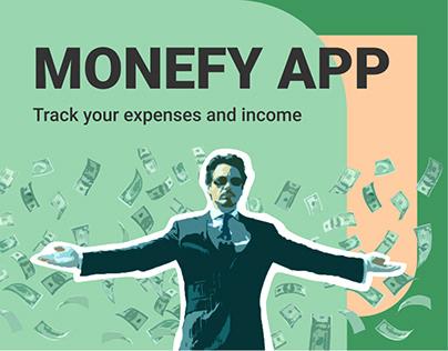 Monefy app redesign UX/UI