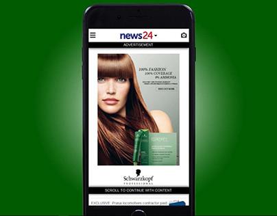 Schwarzkopf Mobile Interscroller Ad