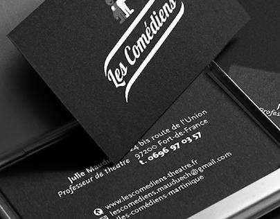 Business cards & web design | Les Comédiens