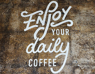 Your Daily Coffee lettering